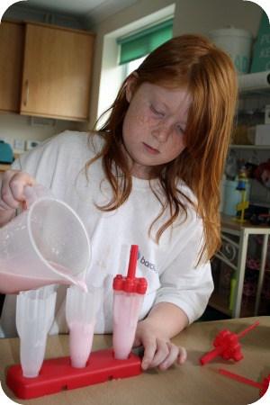 how to make homemade ice lollies