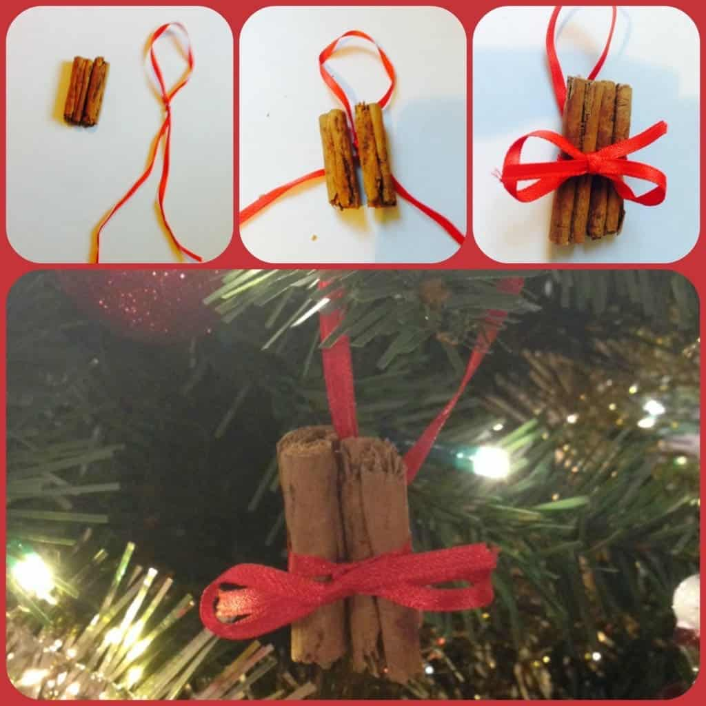 Homemade cinnamon stick tree decorations the diary for Homemade tree decorations