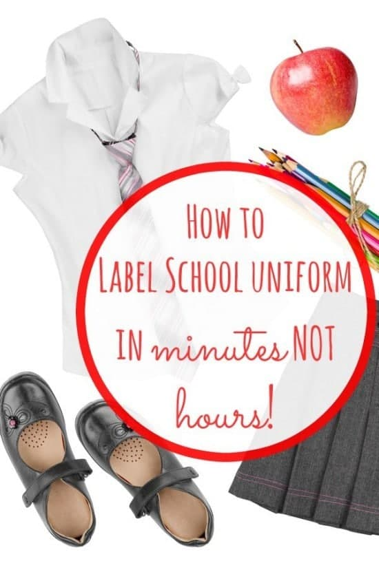 How To Label School Uniform In Minutes Not Hours The