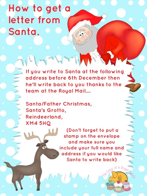 get a letter from santa free printables letter to santa templates and how to get 21942 | How to get a letter from Santa.