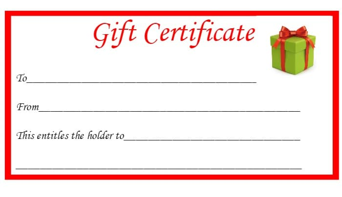 Free Templates Gift Certificate Printable