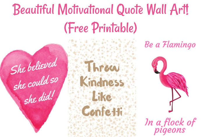 beautiful motivational quote wall art  free printable