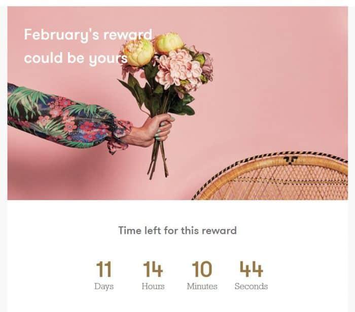 This months TK Maxx Reward
