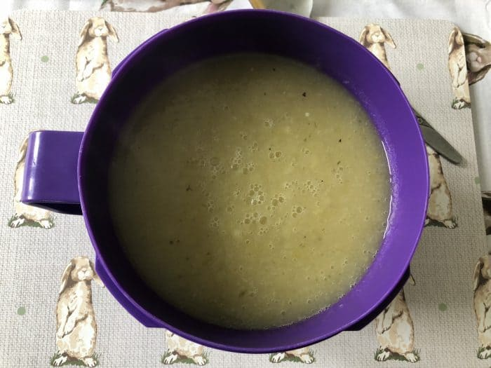 homemade leek and potato soup